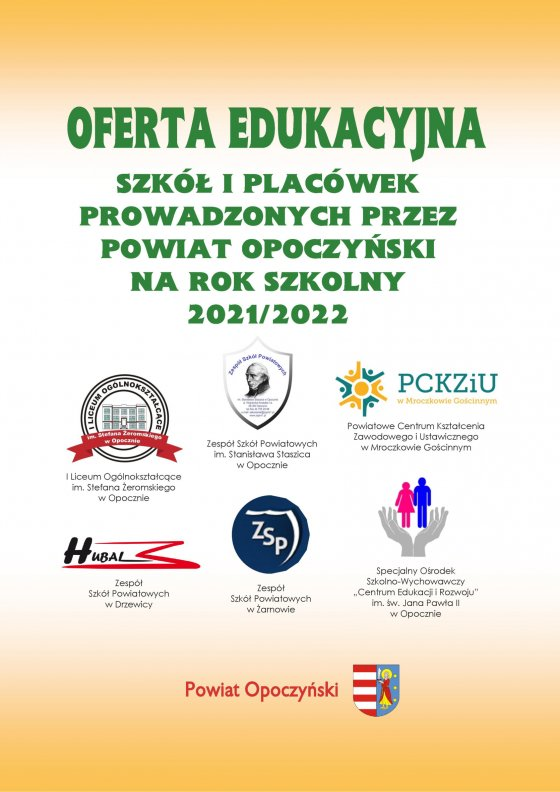 Oferta Edukacyjna Powiatu Opoczyńskiego 2021/2022 strona 1