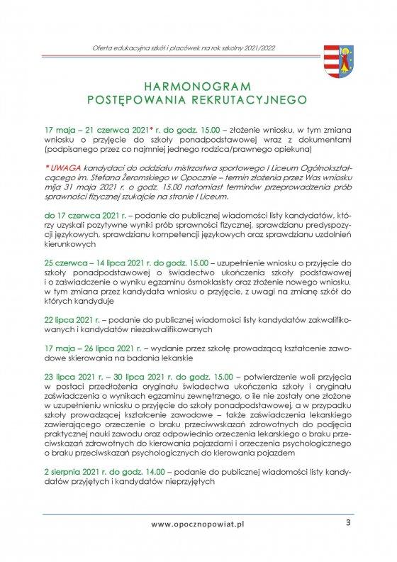 Oferta Edukacyjna Powiatu Opoczyńskiego 2021/2022 strona 5
