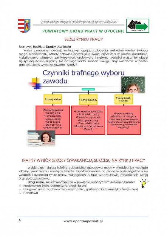 Oferta Edukacyjna Powiatu Opoczyńskiego 2021/2022 strona 6