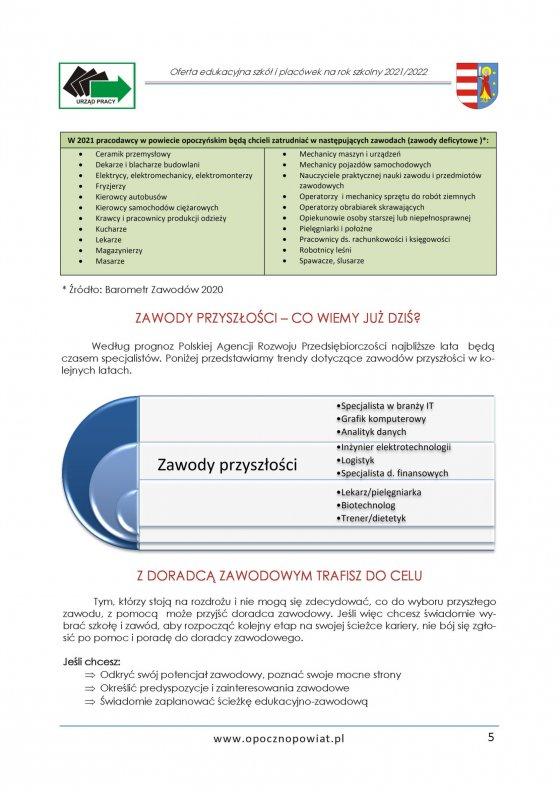 Oferta Edukacyjna Powiatu Opoczyńskiego 2021/2022 strona 7
