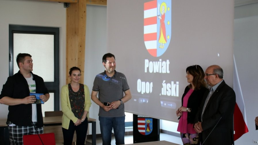 Polscy i niemieccy uczniowie z Biesdorf z wizytą w Starostwie