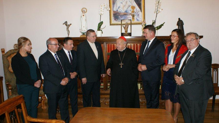 Starosta z wizytą u Kardynała Stanisława Dziwisza