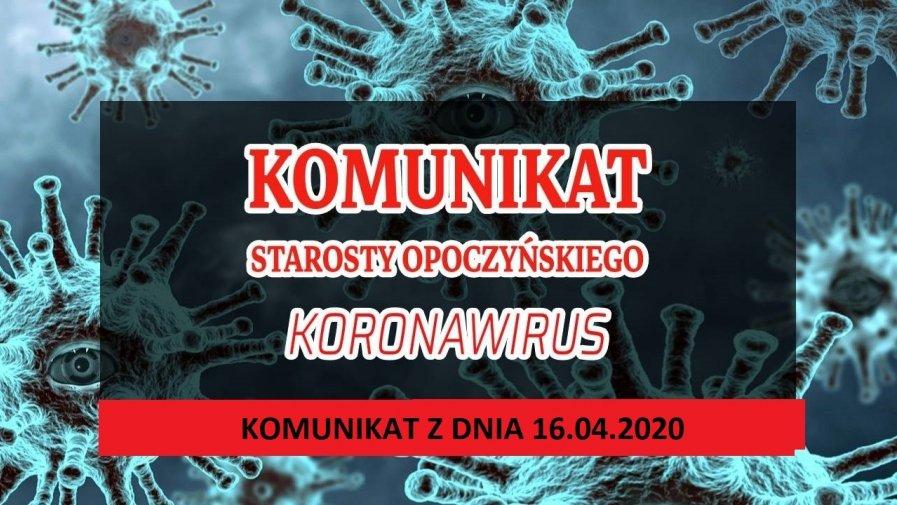 Wczoraj (15.04.2020 r.) Państwowa Powiatowa Inspektor Sanitarna w Opocznie wydała decyzję w brzmieniu: