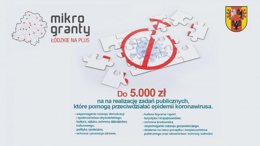 300.000 zł to pula Wojewódzkiego Programu Mikrograntów na rzecz walki z COVID-19, który ogłosił Zarząd Województwa Łódzkiego. Właśnie rozpoczyna się nabór ofert na realizację zadań publicznych, które pomogą przeciwdziałać epidemii koronawirusa.
