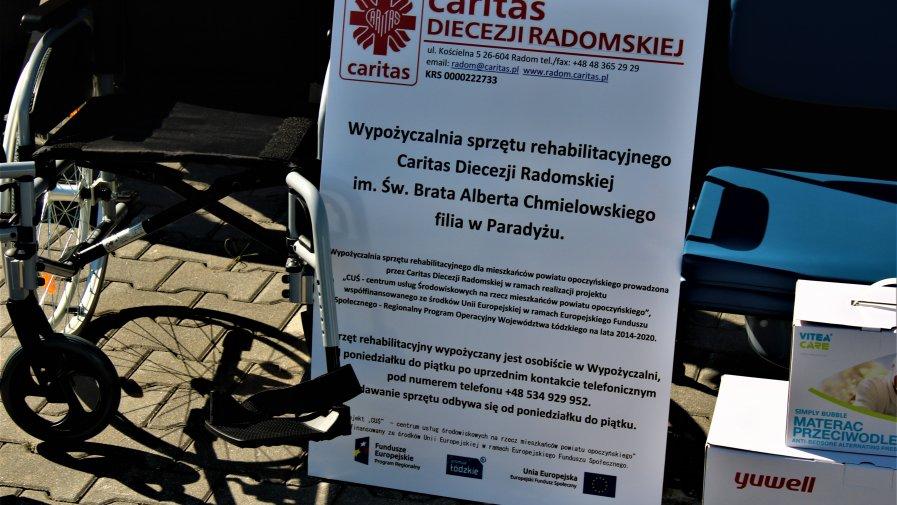 W Paradyżu działa już wypożyczalnia sprzętu rehabilitacyjnego Caritas.Ze sprzętu będzie można skorzystać bezpłatnie. Jego wartość to blisko 400 tysięcy złotych.