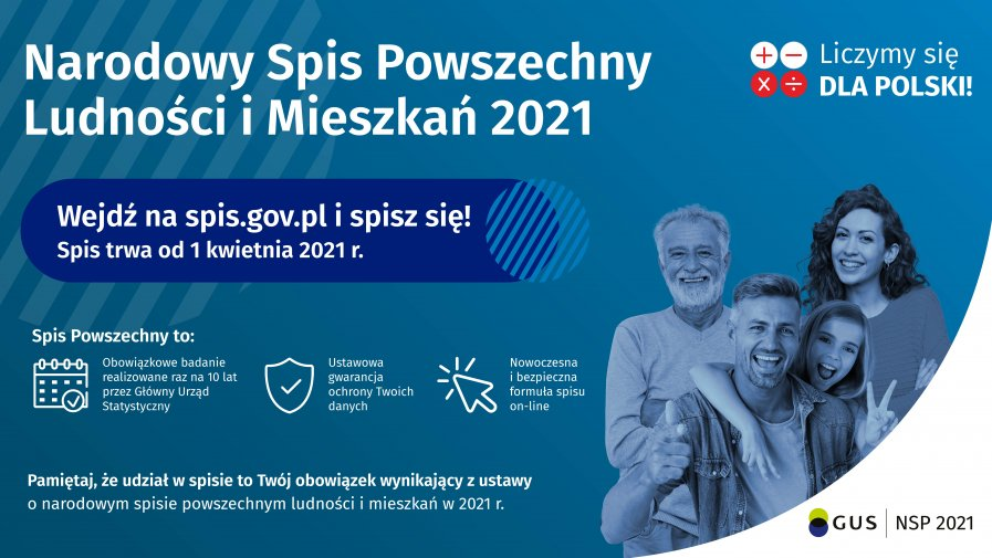 1 Kwietnia rozpoczął się Narodowy Spis Powszechny Ludności i Mieszkań 2021
